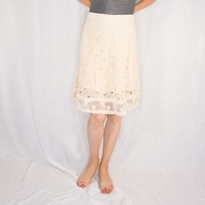 MAEVE Anthropologie Anika Lace A-Line Skirt NWT